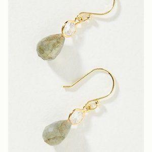 Anthropologie Zelda Drop Earrings - Gray - NWT